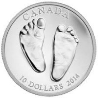 Silver Coin for baby - Welcome to the World 2014, 15.55 gr., 9999