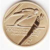 Gold Coin - Torino Winter Olympic Games Ski Jump, 200 Zl, 2006