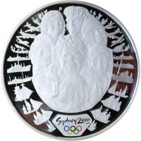 Olympic silver coin Sydney 2000  - Sea change 1 - 31.635 gms