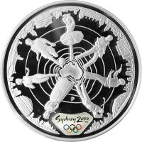 Olympic silver coin Sydney 2000  - Reaching the world 2 - 31.635 gms