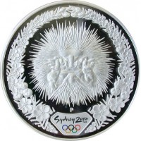 Olympic silver coin Sydney 2000  - Echidna  - 31.635 gms