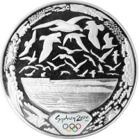 Olympic silver coin Sydney 2000  - HARBOUR air - 31.635 gms