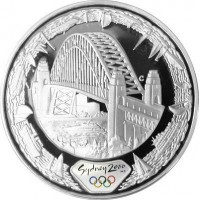 Olympic silver coin Sydney 2000  -  Harbour water - 31.635 gms