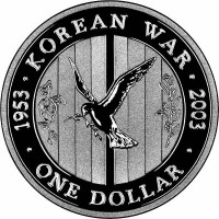 Silver coin - 50th Anniversary of the End of the Korean War, 999, 11,66