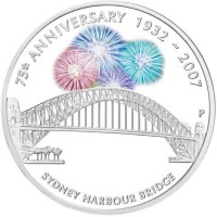 Silver coin - 75th Anniversary Sydney Harbour Bridge, 1oz, 999