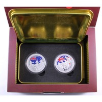 Set coins - 90th anniversary Australian & New Zealand Army Corps