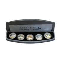 Set - Evolution of the fighter plane, 5 x 1oz, 999