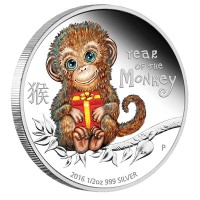 Lunar Baby Monkey - 1/2 oz - Silver Proof coin