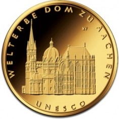 Gold Coin - Aachen Cathedral, 15,55 gr., 999