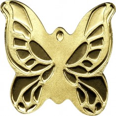 Gold coin - Butterfly, Palau, 1 Dollar, 0.5g., 9999