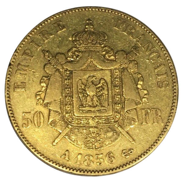 Gold coin - Napoleon III, France, 50 Francs, 16 13 g, 900, 1856 A