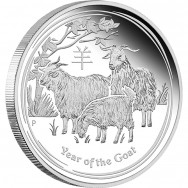 Silver Investment coin -- Lunar Series Year of the Goat 2015, 15.55 g, 999