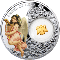 Silver coin - Angel of Luck, Niue Island, 1 Dollar, 14,14g., 999, 2015
