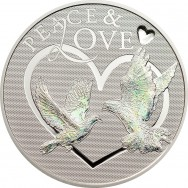 Silver coin Peace & Love, 25 gr., 925