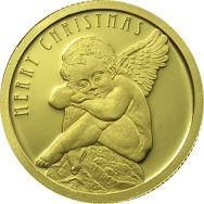Gold coin Christmas Angel, 1.24 gr., 999.9