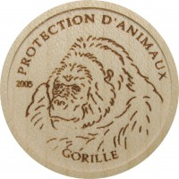 Wood Coin - Gorilla