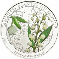 Silver-plated coin - Lily of the Valley