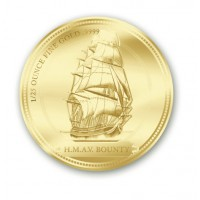 Gold coin - H.M.A.V. Bounty - Ship - 7,77gr. purity 999