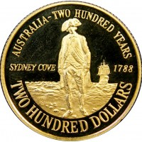 Gold Coin - Australia - 200 Years Independence 1788-1988, 10 gr., 917