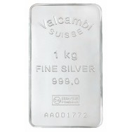 Valcambi Investment Silver Bar, 1kg