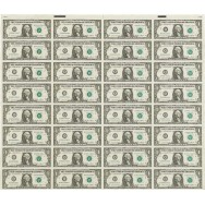 Uncut American 1 Dollar Sheet